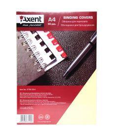 Обложка для брошуровщика Axent А4 под кожу картон 50 шт кремовая 2730-33-a