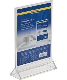 Информационная табличка Buromax двухсторонняя 150x200мм прозрачная BM.6414-00