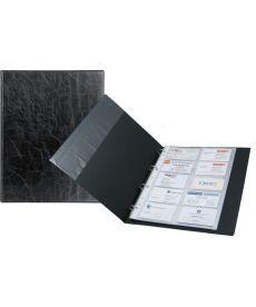 Папка визитница Axent А4 200 визиток черный на кольцах 2504-01-А