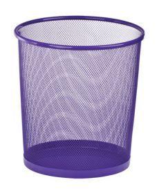 Корзина для бумаг круглая 295x295x280мм металлическая фиолетовый