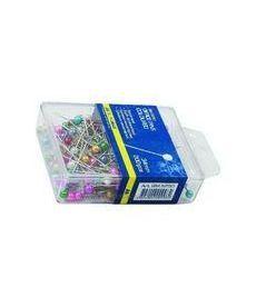 Булавки цветные 34мм Buromax JOBMAX 100 штук пластиковый контейнер BM.5251