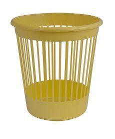 Корзина офисная для бумаг 10 л. пластик желтая