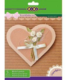 Основа для открыток из гофрокартона А5 5 цветов 5 листов