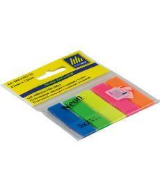 Закладки Buromax пластиковые NEON 45x12мм 5х25 листов Jobmax ассорти BM.2302-98