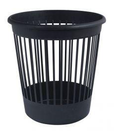 Корзина офисная для бумаг Арника пластик. 10л черная 82061