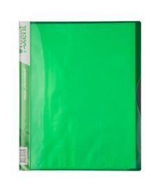 Папка с файлами Axent А4 дисплей-книга 40 файлов салатовая 1140-09-A