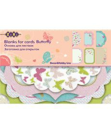 Заготовка ZiBi для открыток Butterfly 10.2x15.3см ZB.18205-AF