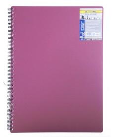 Записная книга блокнот А6 Buromax 80 л. клетка пласт. обл. спираль красный CLASSIC BM.2589-005