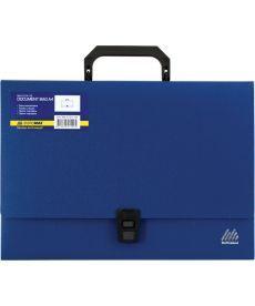Портфель 35мм Buromax A4 210?297x35мм 1 отд. пластиковый замок синий BM.3724-02
