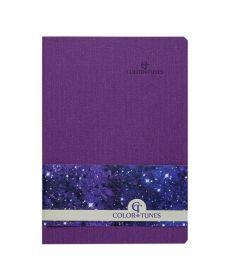 Записная книга блокнот Buromax COLOR TUNES А5 искусств. кожа 96л. клетка фиолетовый BM.295100-07