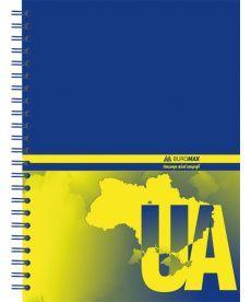 Записная книга блокнот А5 Buromax 96 л. клетка тв. обл. спираль BM.2412
