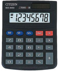 Калькулятор Citizen 8 разрядов SDC-805II