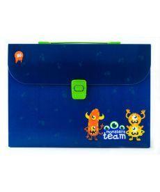 Портфель Yes A4 210?297x35мм 1 отд. пластиковый замок Monsters 491236