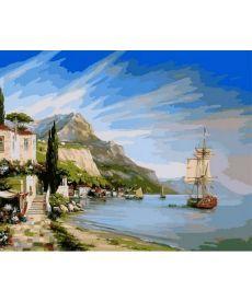 Картина по номерам Итальянская бухта 40 х 50 см (Nb851)