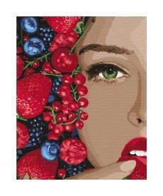 Картина по номерам Сочная ягодка   40*50 см (KHO4739)