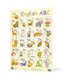 Плакат Англійська абетка NEW