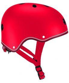 Шлем защитный детский GLOBBER, красный, с фонариком, 48-53см (XS/S)(505-102)
