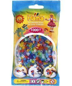 Термомозаика HAMA Набор цветных бусин, 1.000 шт, 6 полупрозрачных цветов с блестками(207-54)