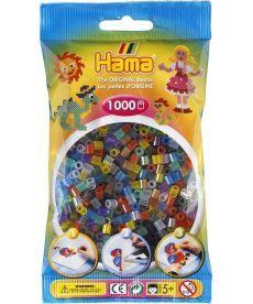 Термомозаика HAMA Набор цветных бусин, 1.000 шт, 6 полупрозрачных цветов(207-53)