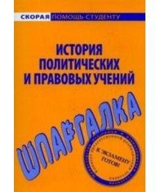 История политических и правовых учений. Шпаргалка
