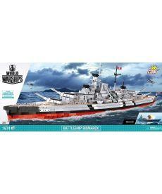 Конструктор COBI World Of Warships Линкор Бисмарк 1974 деталей