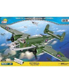 Конструктор COBI Вторая Мировая Война Самолет B-25 Митчелл 500 деталей
