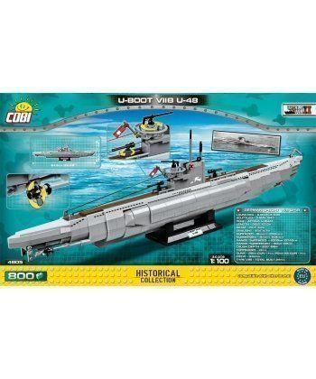 Конструктор COBI Подводная лодка U-48 800 деталей