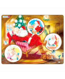 Пазл рамка-вкладиш LARSEN Дед Мороз серия МАКСИ