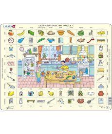 Пазл рамка-вкладыш LARSEN Учим английский Кухня серия МАКСИ