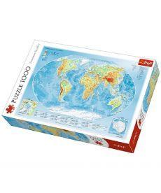 Пазл Trefl Физическая карта мира 1000 элементов
