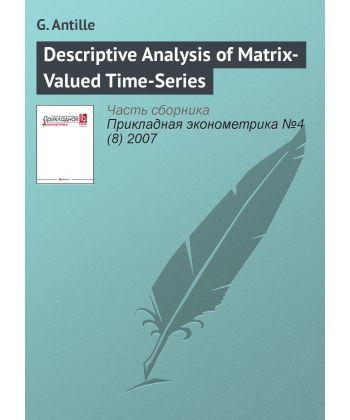 Descriptive Analysis of Matrix-Valued Time-Series