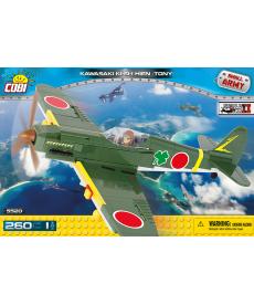 Конструктор COBI Вторая Мировая Война Самолет Кавасаки KI-61-II Тони 260 деталей