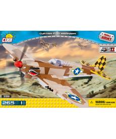 Конструктор COBI Вторая Мировая Война Самолет Кертисс P-40 Вархавк 265 деталей