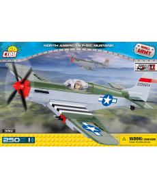 Конструктор COBI Вторая Мировая Война Самолет Мустанг 250 деталей
