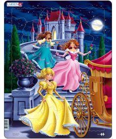 Пазл рамка-вкладиш LARSEN Принцессы серия МАКСИ