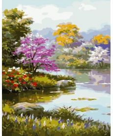Картина по номерам Цветущий сад 40 х 50 см (AS0713)