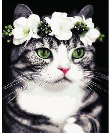 Картина по номерам Романтичная кошка 40 х 50 см (AS0720)