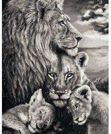 Картина по номерам Преданность львов 40 х 50 см (AS0738)