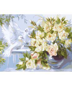 Картина по номерам Белые голуби 40 х 50 см (BK-GX25056)