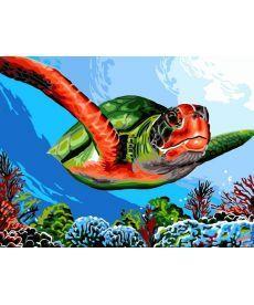 Картина по номерам Зелёная черепаха 30 х 40 см (VK236)