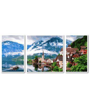 Картина по номерам Триптих. Летняя Австрия Триптих 50 х 150 см (VPT050)