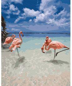 Картина по номерам Фламинго на отдыхе 40 х 50 см (BK-GX31015)