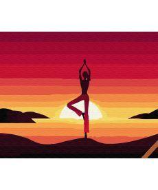 Картина по номерам Медитация на закате 40 х 50 см (BK-GX34820)
