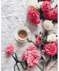 Картина по номерам Цветочный кофе 40 х 50 см (BK-GX34841)