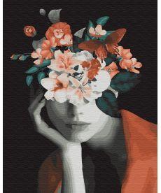 Картина по номерам Мысли в цветах 40 х 50 см (BK-GX34185)