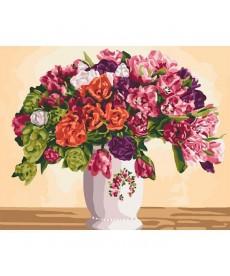 Картина по номерам Пишні тюльпани 40 х 50 см (KHO3075)