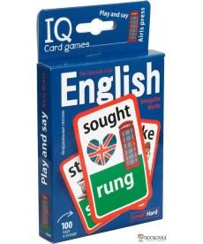 Умные игры с картами. Английские неправильные глаголы. Уровень 2. Синий