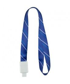 Шнурок для бейджа Axent Office с ретрактором синий 4560-02-А