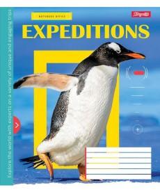 Тетрадь в клетку 18 л 1 Вересня А5 Expeditions микс 4 обложки (762287)