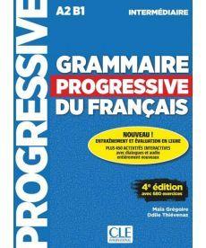 Grammaire Progressive du Francais 4e Edition Intermediaire Livre + CD + Livre-web 100% interactif